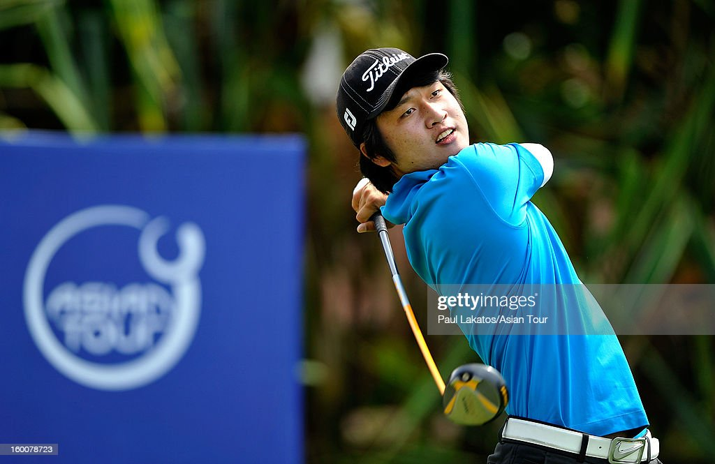 Wang Jeung-hun of Korea plays a shot during round four of the Asian Tour Qualifying School Final Stage at Springfield Royal Country Club on January 26, 2013 in Hua Hin, Thailand.