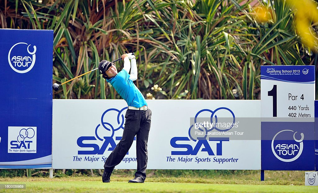 Wang Jeung-hun of Korea plays a shot during round three of the Asian Tour Qualifying School Final Stage at Springfield Royal Country Club on January 25, 2013 in Hua Hin, Thailand.