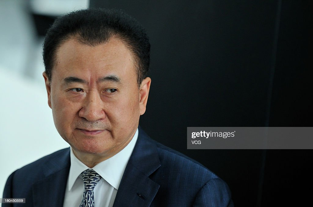 Wang Jianlin Chairman of the Dalian Wanda Group speaks during a session at the World Economic Forum Annual Meeting of the New Champions at Dalian...