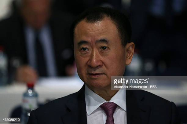 Wang Jianlin Chairman of Wanda Group attends the 65th FIFA Congress at the Hallenstadion on May 29 2015 in Zurich Switzerland