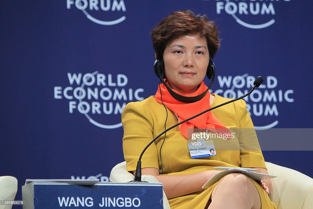Wang Jingbo, Chief Executive Officer of Noah Holdings, attends the interactive session 'Women as China's Way Forward' during the 2012 Tianjin Summer Davos at Meijiang Convention and Exhibition Center on September 13, 2012 in Tianjin, China. World Economic Forum 2012 Tianjin Summer Davos will be held from September 11 to 13, with the theme of 'Creating the Future Economy'.