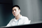 Wang Jun founder of iCarbonX listens during an interview in Hong Kong China on Friday June 3 2016 Wang spent 16 years expanding the world's...