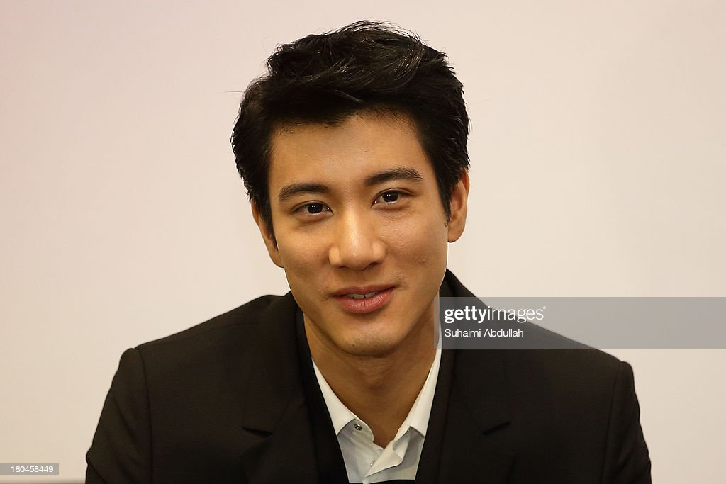 Wang Lee Hom attends the media conference for the movie premiere of 'My Lucky Star' at the ArtScience Museum at Marina Bay Sands on September 13, 2013 in Singapore.