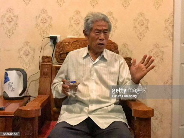 Wang Qi who has left China for 54 years during an interview in a hotel in his hometown on February 12 2017 in Xianyang China The 77yearold man went...