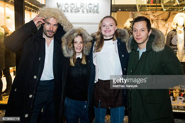 Wanja Mues Jasna Fritzi Bauer Maria Dragus and Trystan Puetter attend the 'The Woolrich Mill Tradition And Future Of Wool' photo exhibition opening...
