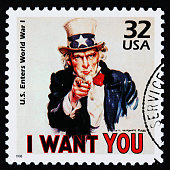 I Want You cancelled stamp.