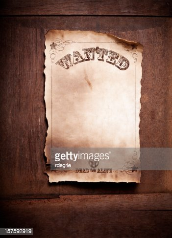 wanted dead or alive poster xxl stock photo getty images. Black Bedroom Furniture Sets. Home Design Ideas