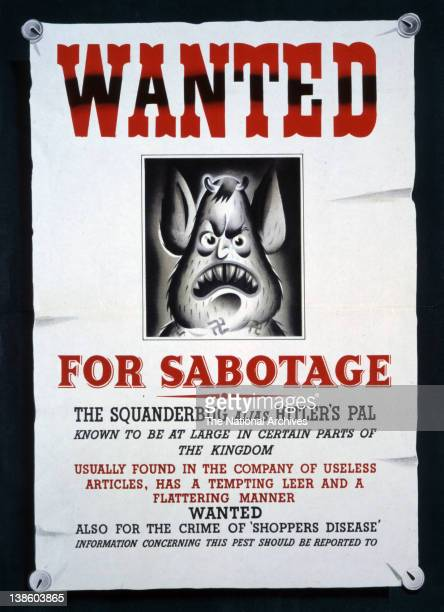Wanted for sabotage the Squanderbug 1943
