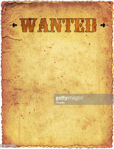 Mental Patient Or Criminal Wanted Poster On Brick Wall Photo – Picture of a Wanted Poster