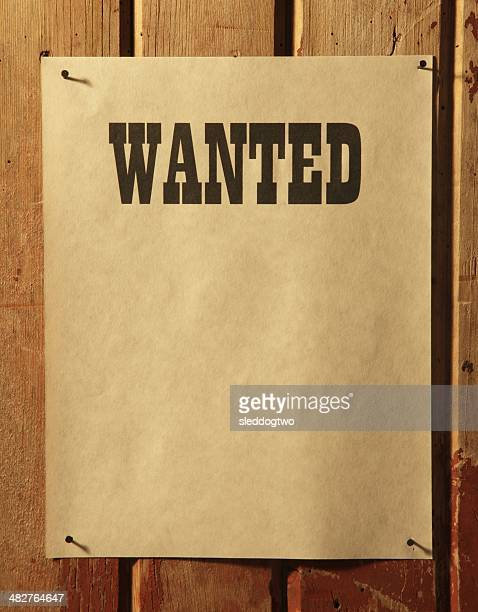 Wanted-englisches Plakat