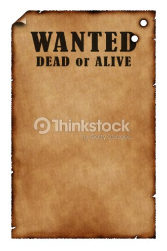 Wanted Poster With Bullet Holes Stock Photo Thinkstock