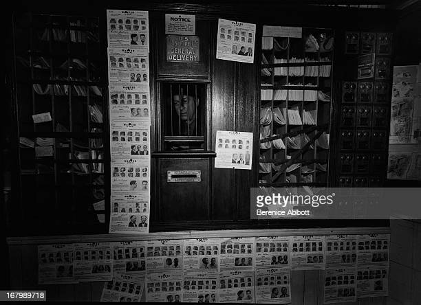 Wanted posters in a Post Office USA 1967