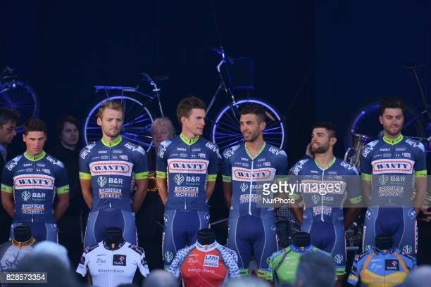 WantyGroupe Gobert a UCI Professional Continental men's cycling team based in Belgium during Teams Presentation Ceremony on the eve of the opening...