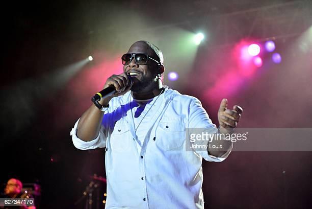 Wanya Morris of Boyz II Men performs onstage at Pompano Beach Amphitheatre on December 2 2016 in Pompano Beach Florida
