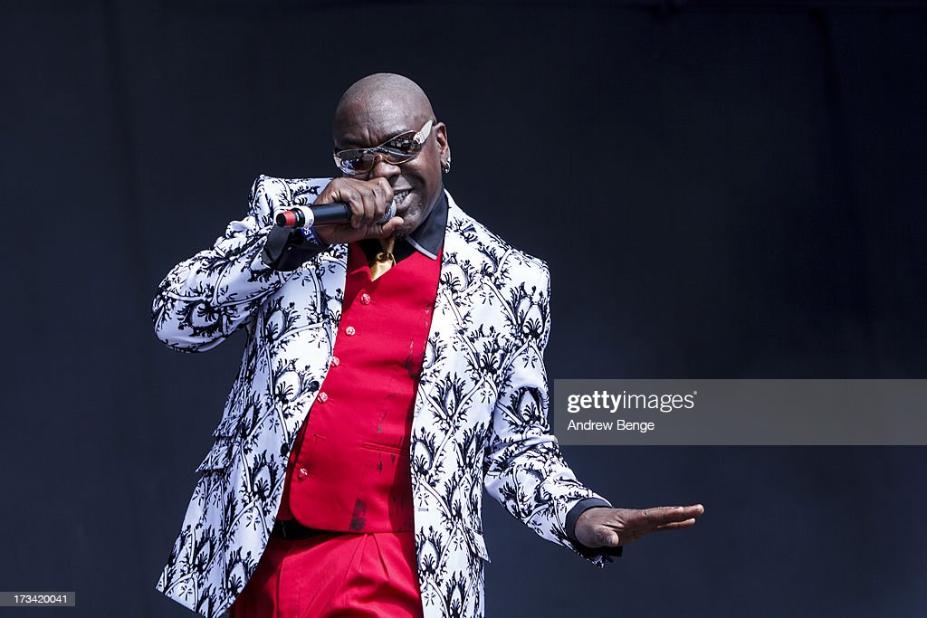 Wanz of Macklemore & Ryan Lewis performs on stage on Day 2 of Yahoo Wireless Festival 2013 at Queen Elizabeth Olympic Park on July 13, 2013 in London, England.