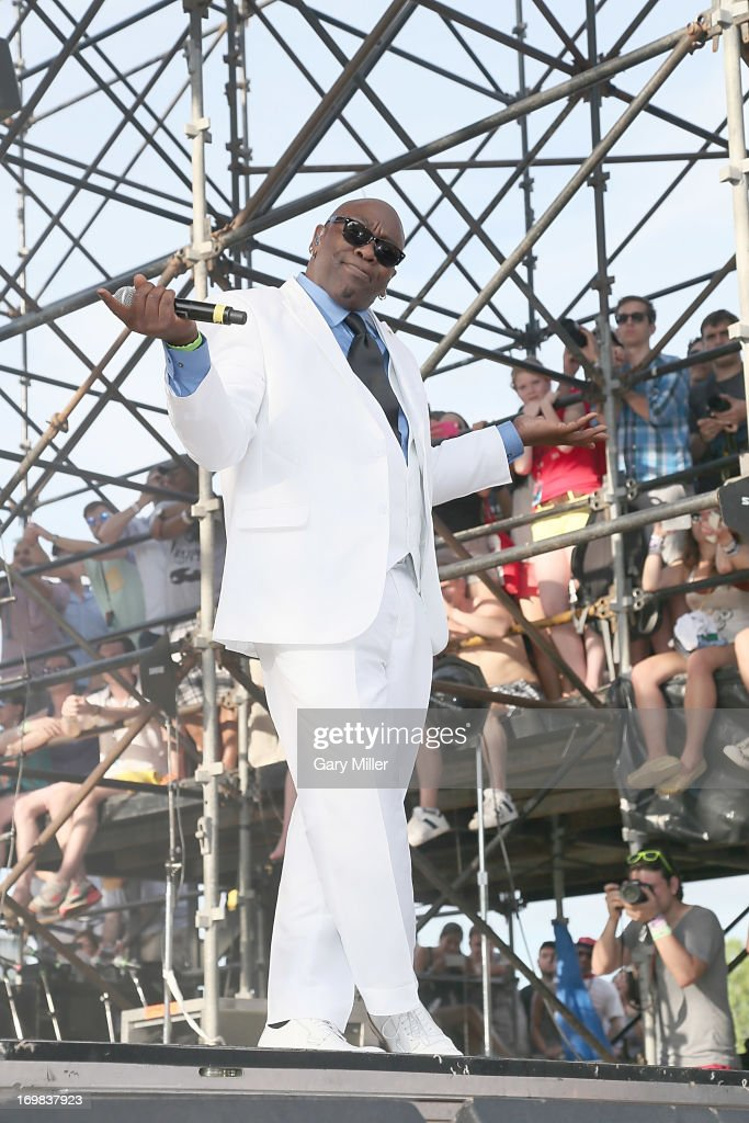 Wanz performs in concert with Macklemore and Ryan Lewis during the Free Press Summer Festival at Eleanor Tinsley Park on June 2, 2013 in Houston, Texas.