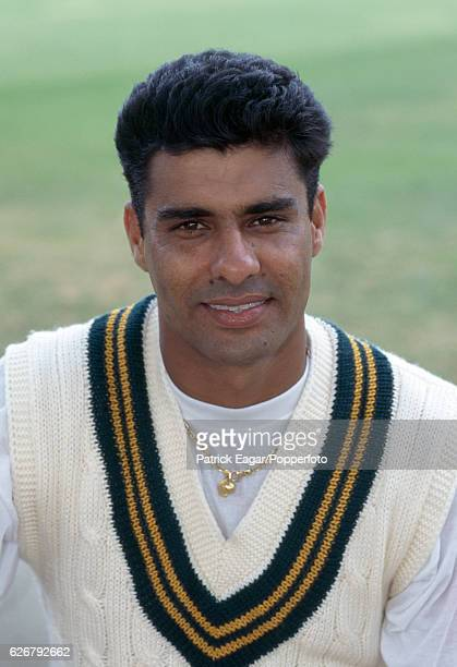 Waqar Younis of Pakistan before the 1st Test match between England and Pakistan at Lord's Cricket Ground London 24th July 1996