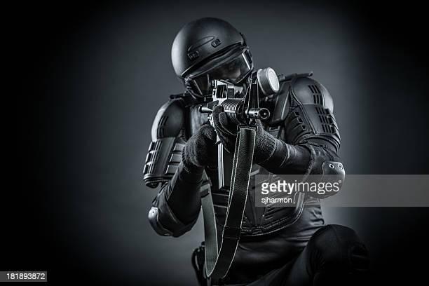 War Against Terrorist Soldier in Action