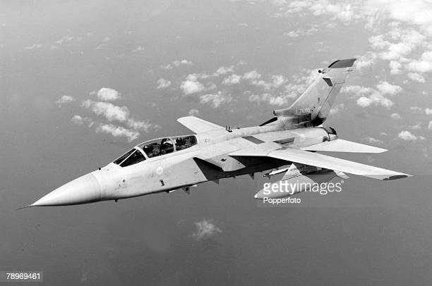 War and Conflict Aviation Military pic circa 1980 The Panavia 'Tornado' jointly developed by the UK Italy and Germany This 'Tornado' is the Air...