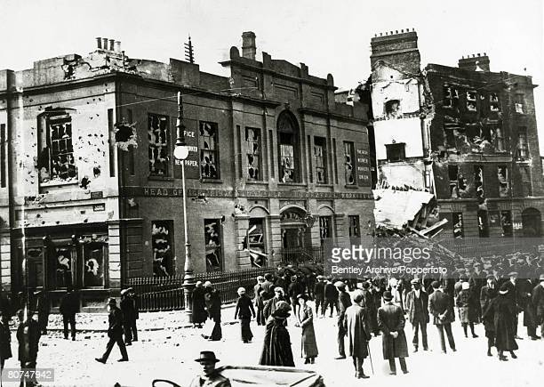 War and Conflict Politics Dublin Ireland The Easter Uprising pic 1916 Liberty Hall after it had been shelled by the British The Irish rebellion began...