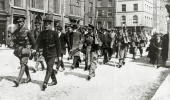 War and Conflict Politics Dublin Ireland The Easter Uprising pic May 1916 A party of Sinn Feiners including a bearded old man marched away under...