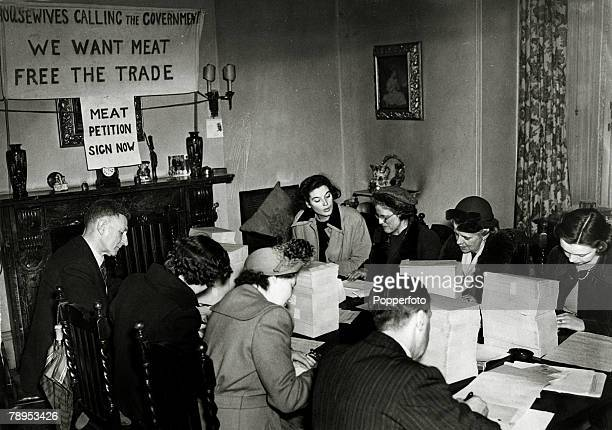 War and Conflict Post World War Two Great Britain pic 1951 A group of people meet in Bayswater London to call on the government by use of a petition...