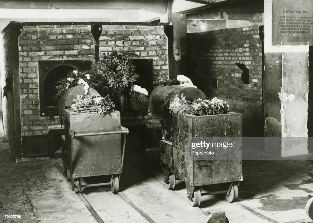 War and Conflict, Post World War Two, pic: 1961, The Auschwitz concentration camp, showing the crematory oven, the camp now used as a museum