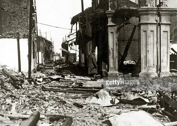 War and Conflict SinoJapanese War pic 1932 A ruined street in Woosung after the Japanese bombardment Following the two countries conflict at the end...