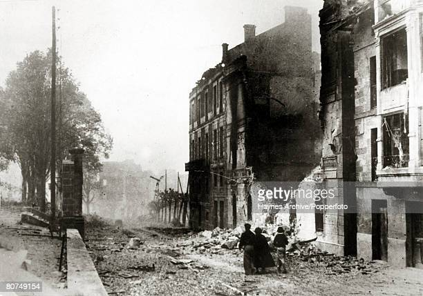 War and Conflict Spanish Civil War pic 30th April 1937 A scene of devastation in Guernica after an aerial bombardment by German and Italian planes...