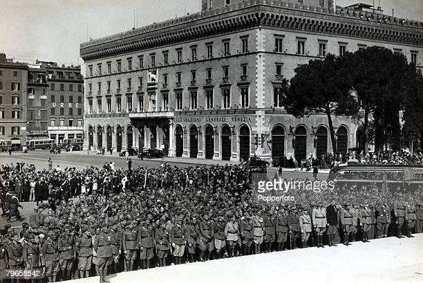 War and Conflict The Abyssinia Italy War pic 1938 A thousand Italian soldiers wounded in the ItalyAbyssinia war pictured in Piazza Venezia Rome...