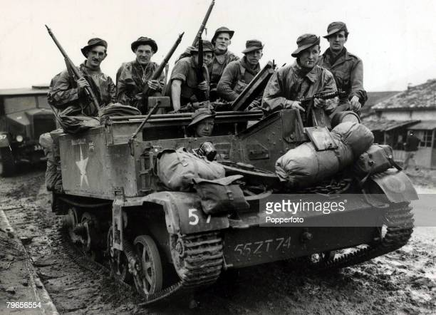 9th May 1951 British soldiers of the 1st Battalion the Gloucestershire Regiment after fighting their way out of a Communist encirclement pictured on...