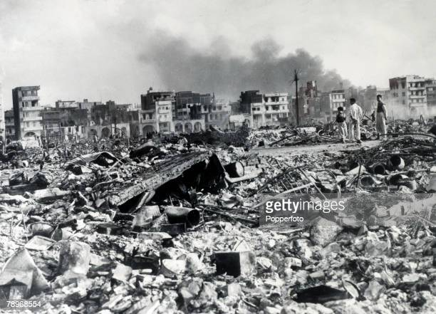 8th November 1956 Port Said Egypt The the Arab town of Port Said a mass of rubble as AngloFrench forces occupy the town