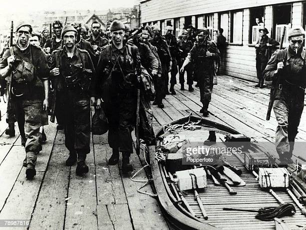 War and Conflict World War 2 The Dieppe Raid pic August 1942 Allied soldiers back in a British port part of a force of 5000 Canadians and 1000...