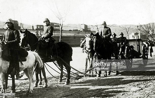 War and Conflict World War I 19141918 Turkish Military Turkish artillery on the road during the operations in Palestine