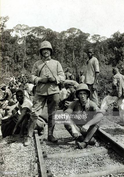 War and Conflict World War I Africa pic circa 1914 AngloFrench conquest of the Cameroons shows a party of French troops resting Togoland and Cameroon...