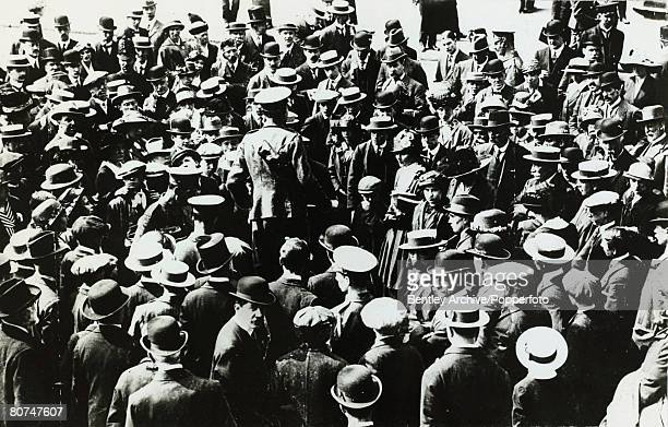 War and Conflict World War I Great Britain A recruitment meeting draws a crowd