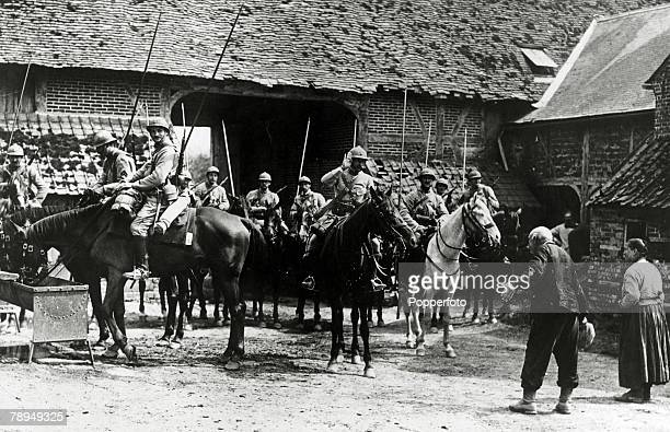 War and Conflict World War I Western Front A contingent of French cavalry receive a courteous welcome at a farm on the Somme