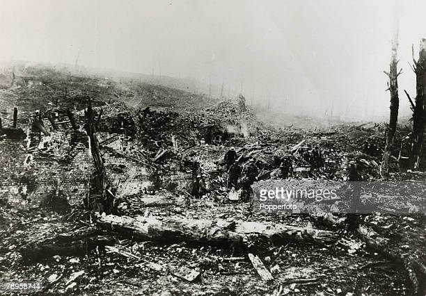 War and Conflict World War I Western Front France pic 1916 The devastated French village of BeaumontHamel where Newfoundlanders attacked with great...