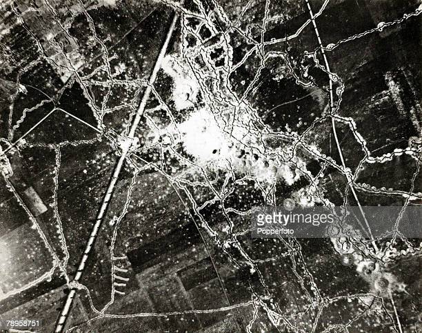 War and Conflict World War I Western Front pic 15th July 1916 An aerial photograph taken west of AuchyLezLaBassee during the preparations for the...