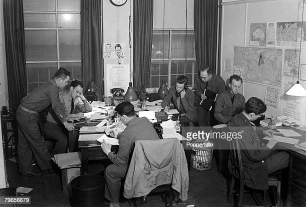 War and Conflict World War II People pic August 1941 The London editorial office of the American Forces newspaper 'The Stars and Stripes'