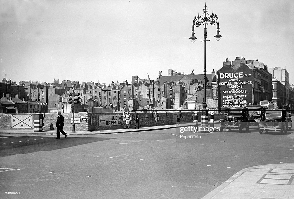 1945 England London's Baker Street with Blandford Street left pictured around the end of the war