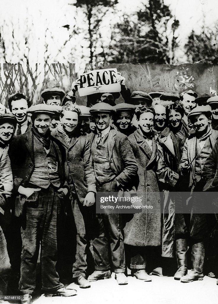 April 1917, British Conscientious Objectors at a peace demonstration at Dartmoor, Devon.