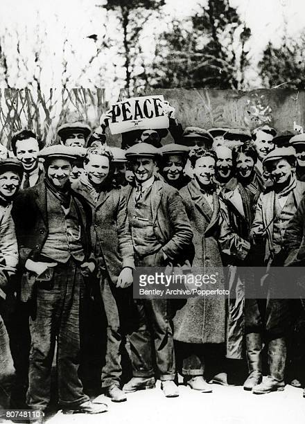 April 1917 British Conscientious Objectors at a peace demonstration at Dartmoor Devon