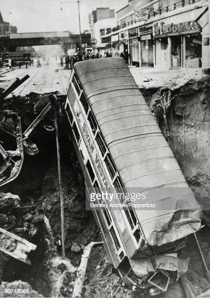 Balham London Tom Howard Gardens: London Blitz Stock Photos And Pictures