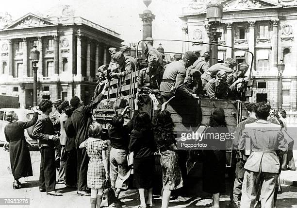 1941 France A scene in Paris as local people try to sell anything of value to German occupation forces in the Place de L'Opera to makes some money