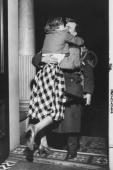 1945 Homecomings / Britain A British soldier returning home gets a warm welcome from his wife