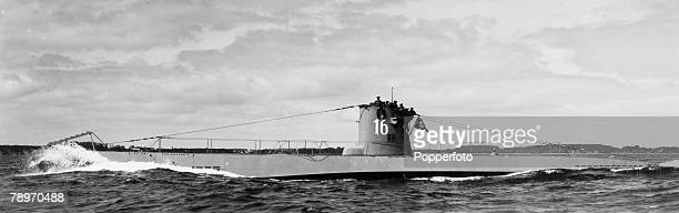 circa 1942 A German submarine U16 puts out to sea