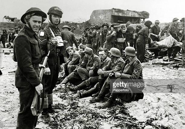 War and Conflict World War Two Western Front pic June 1944 German soldier now prisoners captured by the Canadians in the early days of the Normandy...