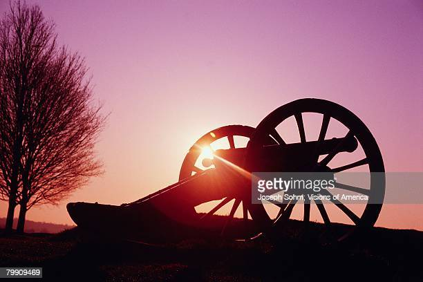 War Cannon at Sunrise