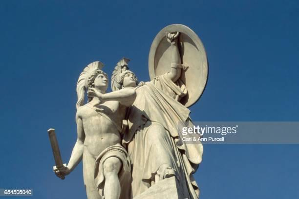 War Goddess with Mythological Hero from Marx-Engels Bridge